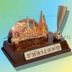 Настольная визитница для рабочего стола или стойки рецепшн с символикой Таиланда