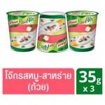 Рисовый суп Кхао Том быстрого приготовления со свининой и морскими водорослями Knorr 3 стаканчика по 35 грамм