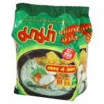 Тайский суп с рисовой лапшой МАМА быстрого приготовления 55 грамм 4 брикета